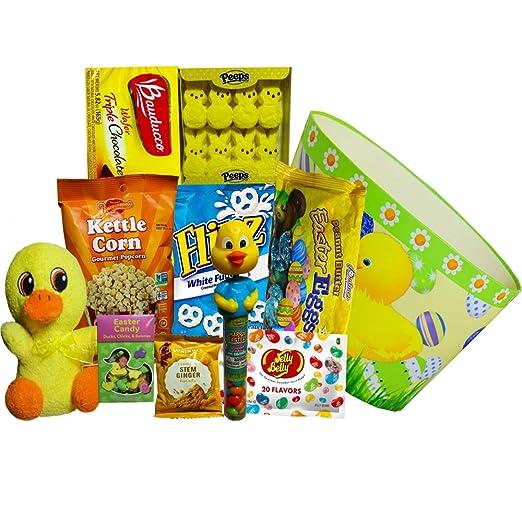 Lucky Duck Pascua cesta de regalo con chocolate y Candy ...