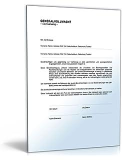 Generalvollmacht Doc Vollmacht Für Die Rechtsverbindliche