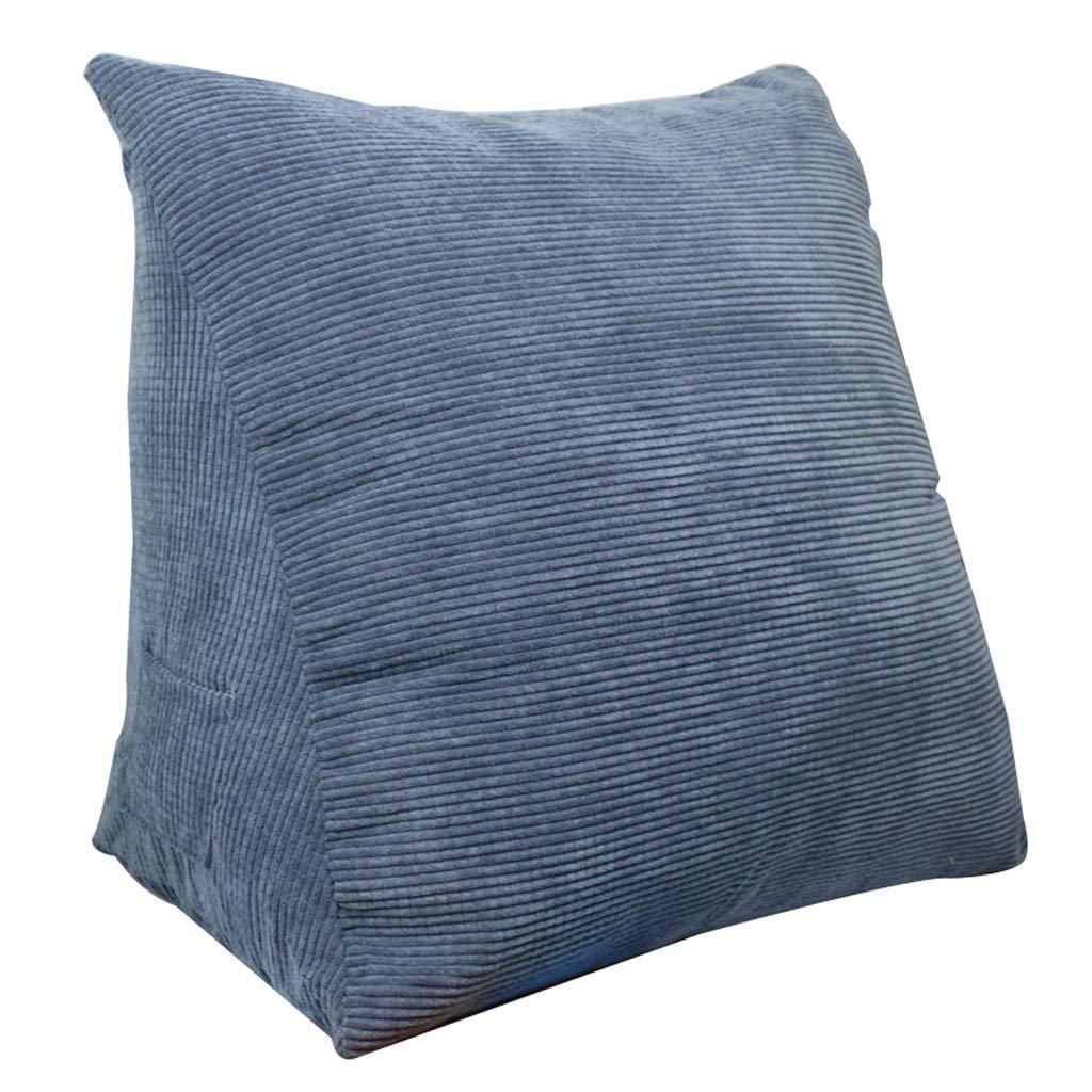 Unbekannt Dreieckauflage Rückenlehnenauflage Samtkissen Schlafsofa Bürostuhlruhe Kissen (Farbe : Blau, größe : L)