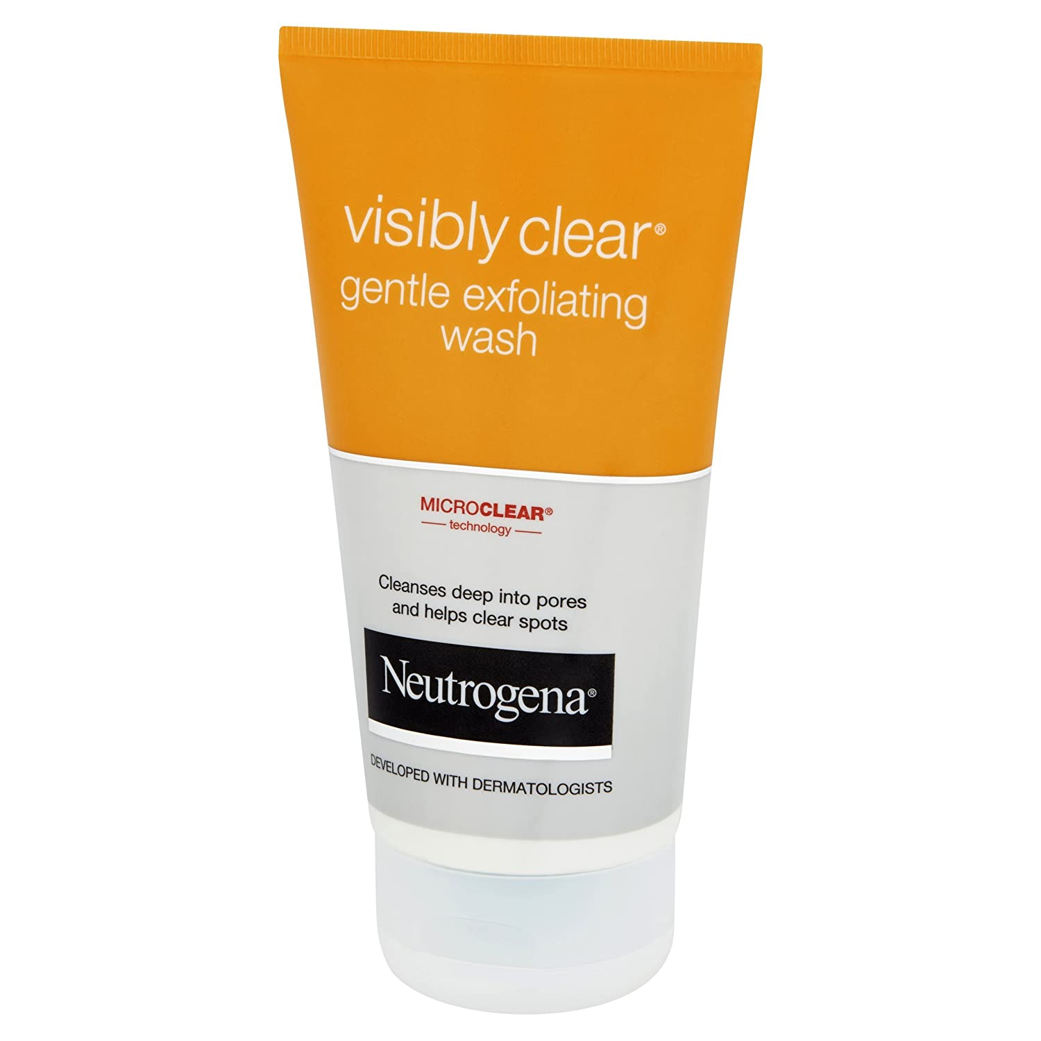 Neutrogena Visibly Clear - Exfoliante facial, 150 ml
