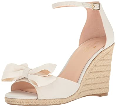 8d081cbd7cd6 Kate Spade New York Women s Broome Espadrille Wedge Sandal Ivory 5.5 M US