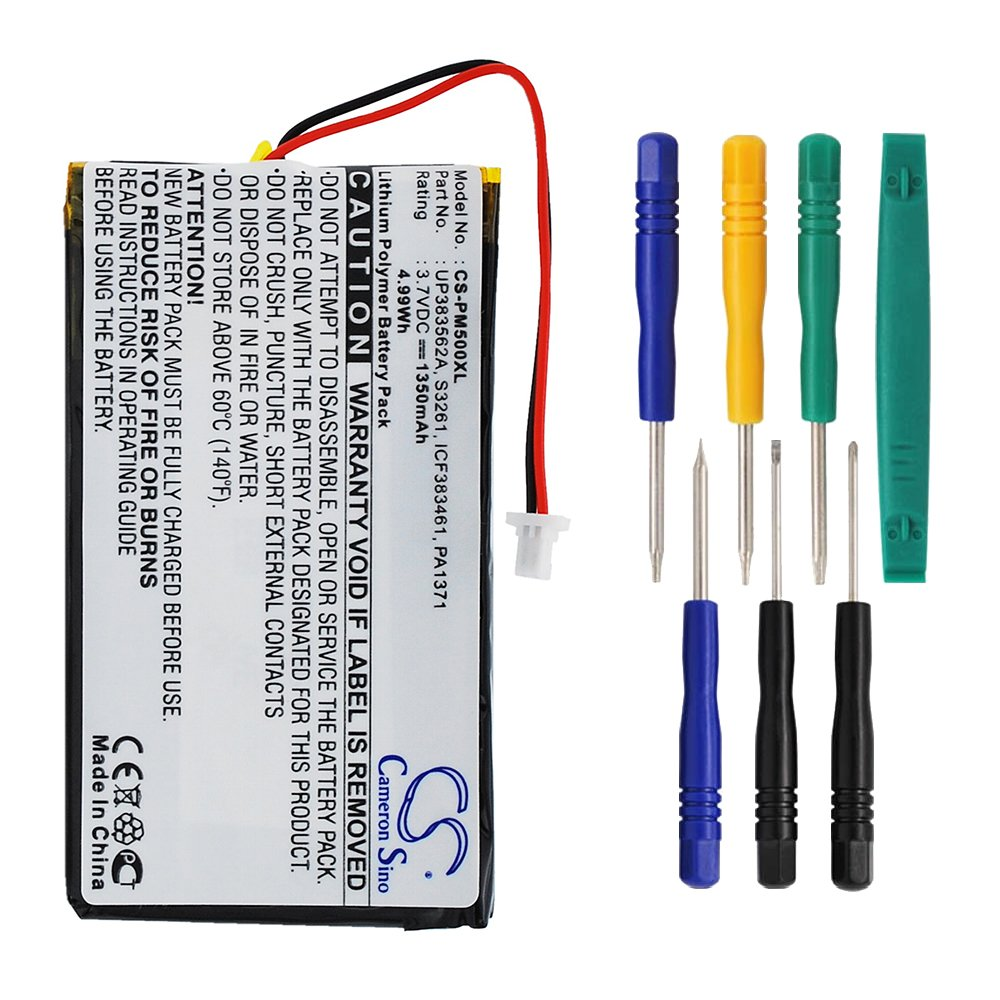 Cameron Sino 1350mAh Battery for Palm M500, M505, M515 with 7/pcs Toolskits by Cameron Sino (Image #1)