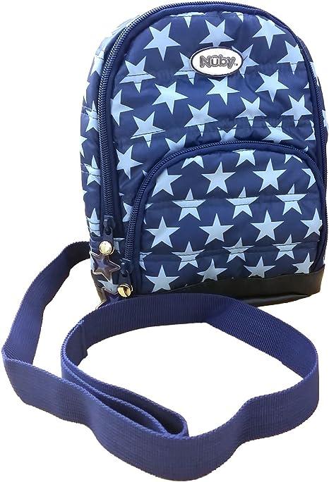 Nuby 2 en 1 acolchado arnés mochila, azul marino estrellas, niño ...