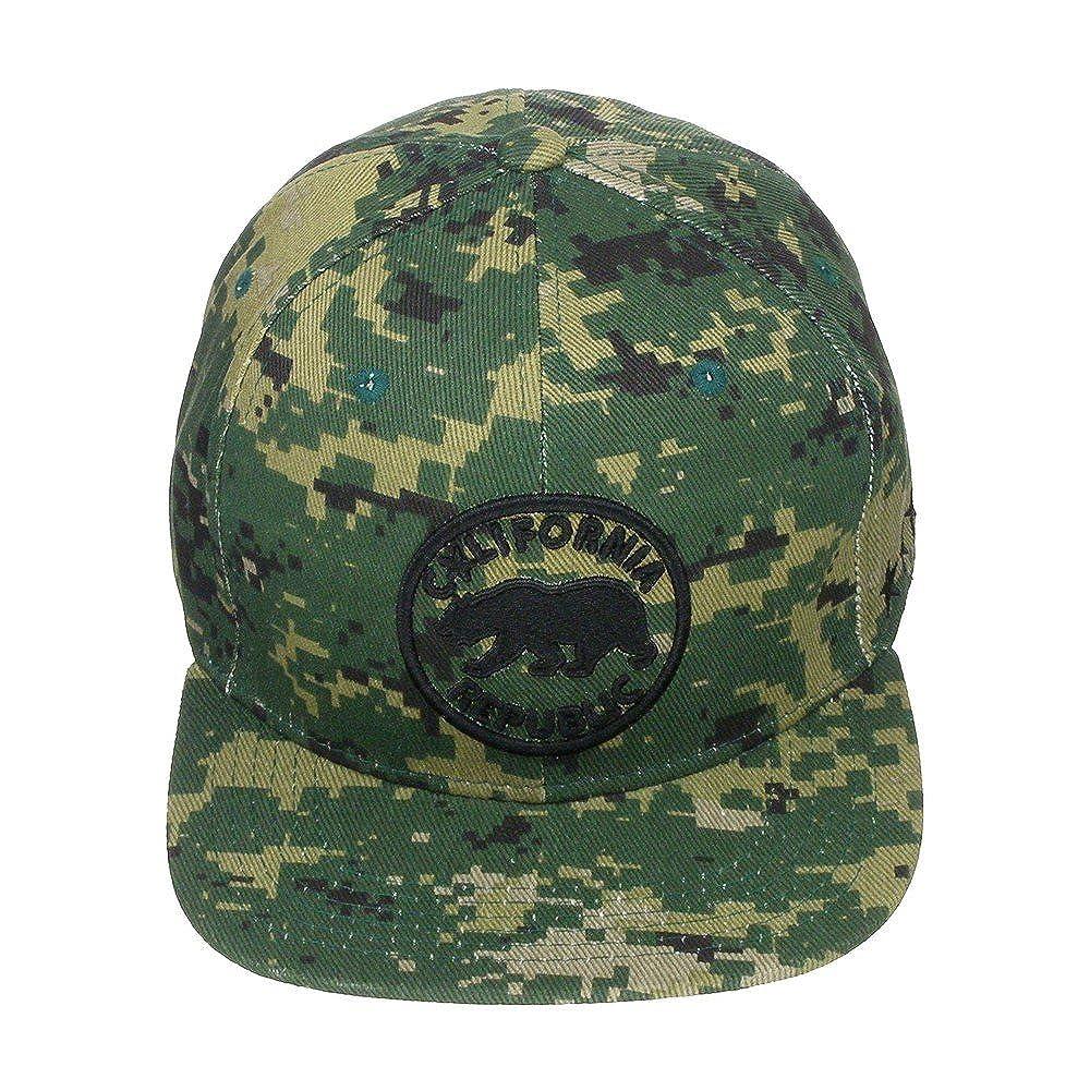 038a4de924e Top Level California Republic Bear High Definition Embroidery Snapback  Baseball Cap Hat Camo Green at Amazon Women s Clothing store