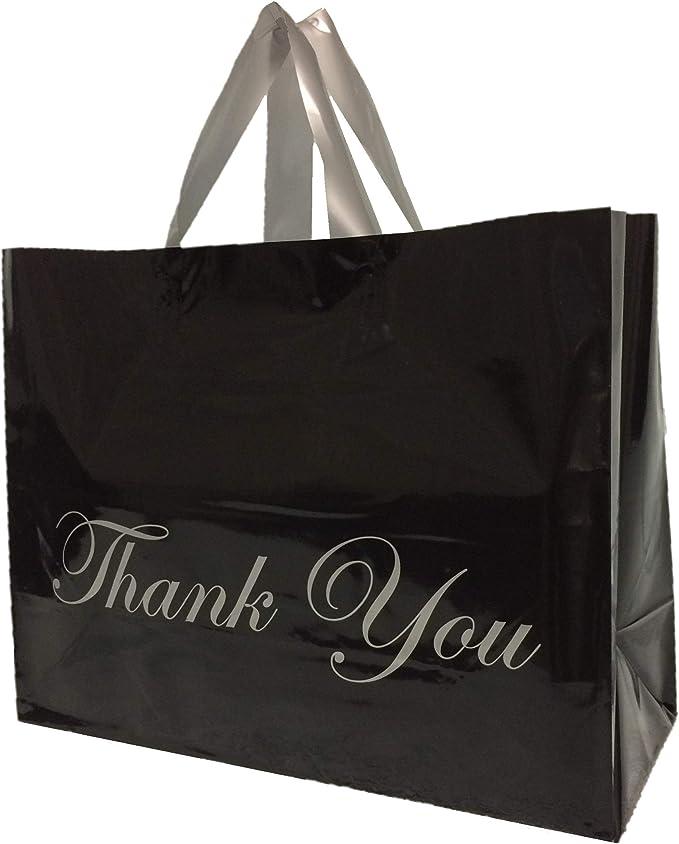 100 YELLOW 55 Micron COLOURED Plastic Flexi Loop Handle Bag CARRY HANDLES Bags