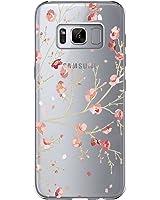 Cover Samsung Galaxy S8 Plus, Vanki Galaxy S8 plus Custodia Morbida di TPU Cristallo Trasparente Sottile Bordo Proteggi Copertura Completa (Fiori di Ciliegio)