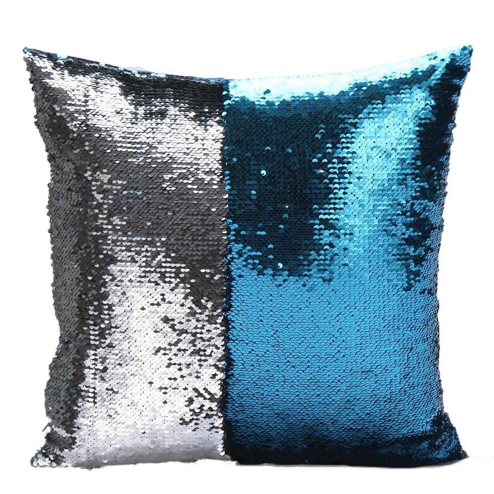 Amazon.com: BOKOLI NEW Two Tone Glitter Sequins Throw Pillows ...