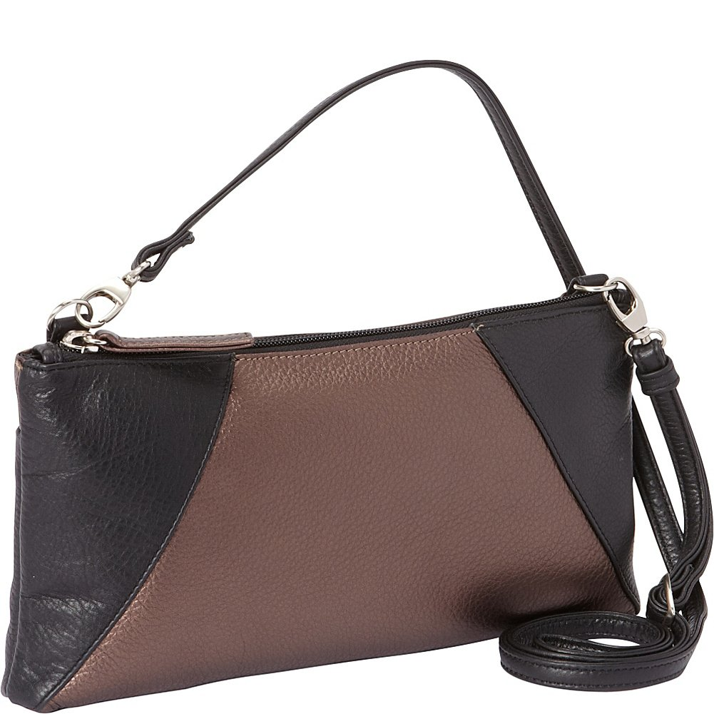 Derek Alexander EW Top Zip Clutch (Black/Bronze)