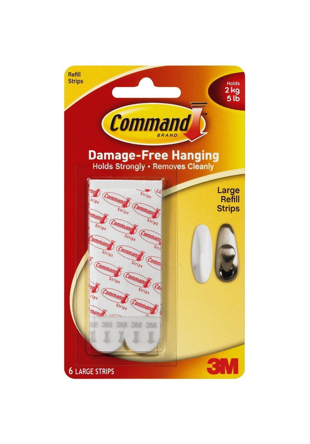 Command Mounting Refill Strips, Large, 24-Strip 17023P