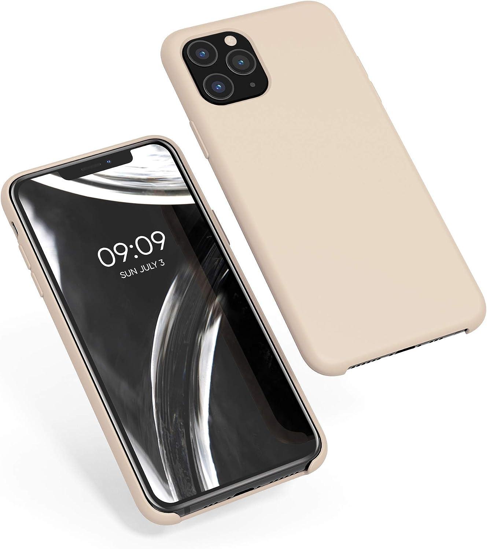 kwmobile Funda Compatible con Apple iPhone 11 Pro - Carcasa de TPU para móvil - Cover Trasero en nácar