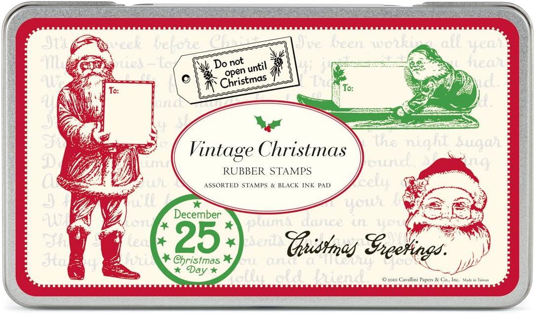 Vintage juego de sellos de goma de Navidad: Amazon.es: Oficina y papelería