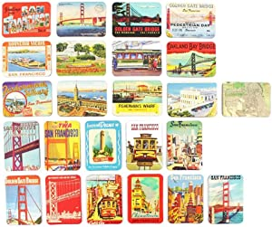 San Francisco California Souvenirs Refrigerator Magnets set of 24 magnetic fridge home decoration accessories arts crafts gifts 6.5 X 4.5 in (Large)