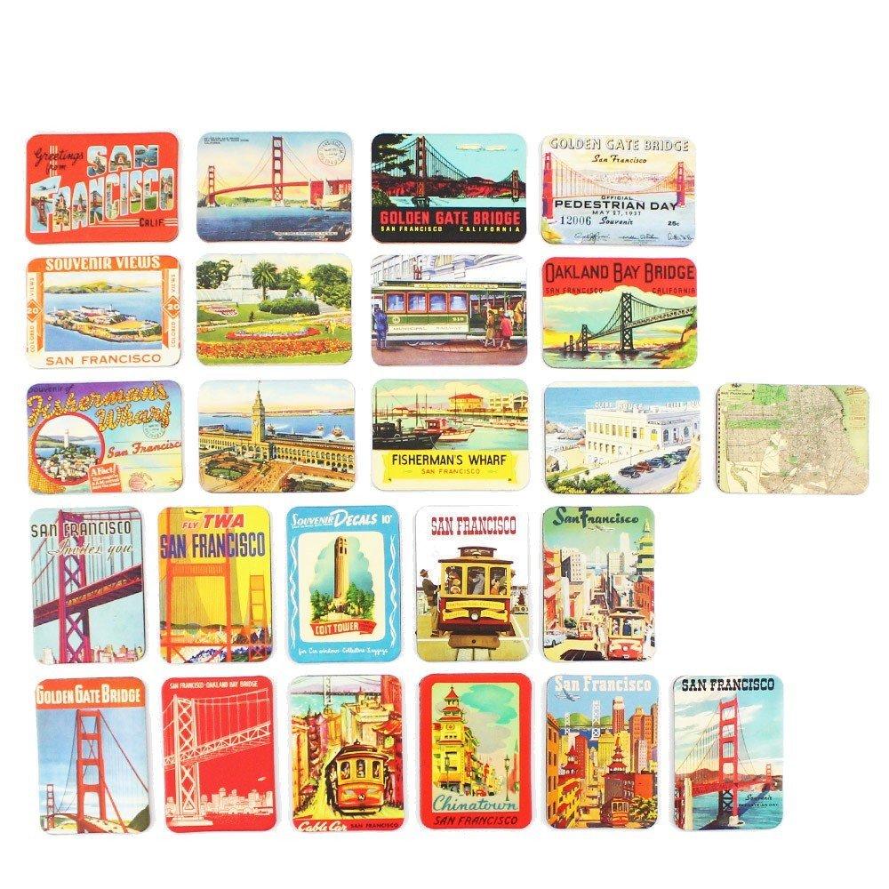 San Francisco souvenirs Refrigerator magnets set of 24 magnetic fridge magnet home decoration accessories arts crafts