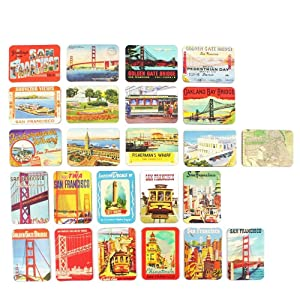 San Francisco souvenirs Refrigerator magnets set of 24 magnetic fridge magnet home decoration accessories arts crafts