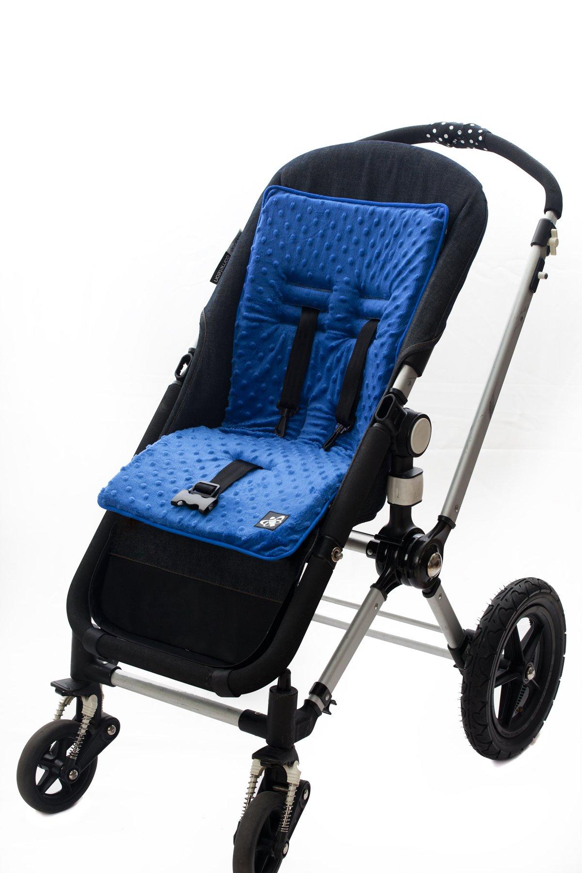 Baby-BeeHaven Cush n' Go Memory Foam Stroller Cushion Liner, Malibu Stripes