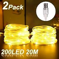 LED Guirnaldas Luces Exterior, ALED LIGHT 20 Metros(2x10m)