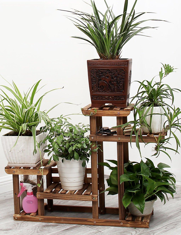 Farbe Für Holz Innen : gaochaoxianghj blumenregal holz bodenart 5 stock ~ Watch28wear.com Haus und Dekorationen