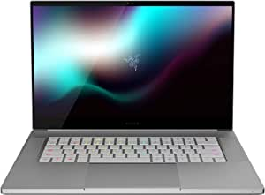 "Razer Blade 15 Studio Edition Laptop: Intel Core i7-9750H - NVIDIA Quadro RTX 5000 - 15.6"" 4K OLED Touch - 32GB RAM - 1TB NVMe SSD, CNC Aluminum, RGB Lighting, Thunderbolt 3, Mercury White"