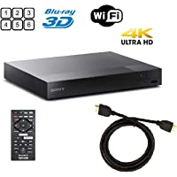 Sony BDPS6500 Blu-ray Player 3D 4K Upscaling Wi-Fi and AmazonBasics High-Speed HDMI Cable (6 Ft) Boundle
