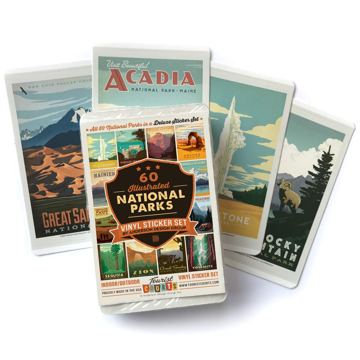 59-Piece Deluxe National Parks Sticker Set by Anderson Design Group (Image #2)