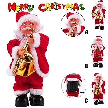 Weihnachtspuppe, Sansee Weihnachtsmann Baby Weich Plüschtier Gesang ...