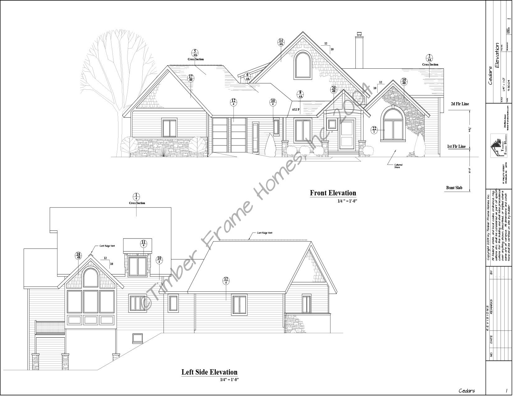 Home Plans - The Cedars Timber Frame (DESIGN PROOF) by TimberStead