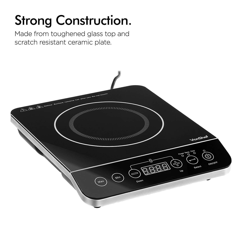 Amazon.com: Vonshef 220 V 240 V portátil inducción encimera ...
