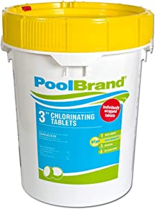 Pool Brand 3-Inch Swimming Pool Chlorine Tablets - 50 Pounds