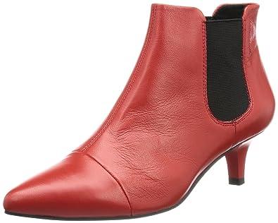 Gr.41 Schuhe Stiefel Leder Damen Vagabond weinrot