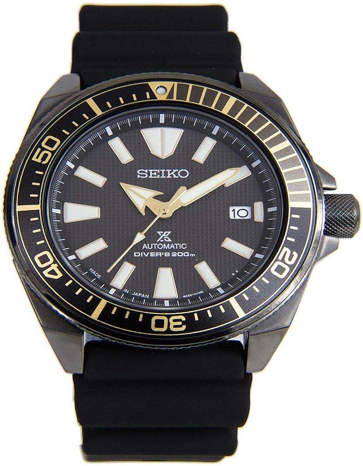 Seiko Pro Diver Samurai Automatic Black Dial with Rubber Buckle Strap SRPB55J1