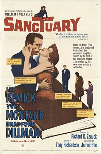 "Sanctuary 1961 Authentic 27"" x 41"" Original Movie Poster Bradford Dillman Drama ..."