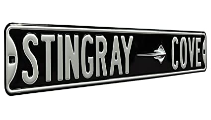 Authentic Street Signs 43023 Corvette Stingray Cove Metal Road Sign, 6