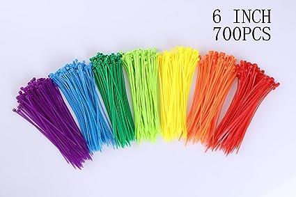 Amazon.com: MINI SKATER 6 Inch Assorted Colored Nylon Cable Wire ...
