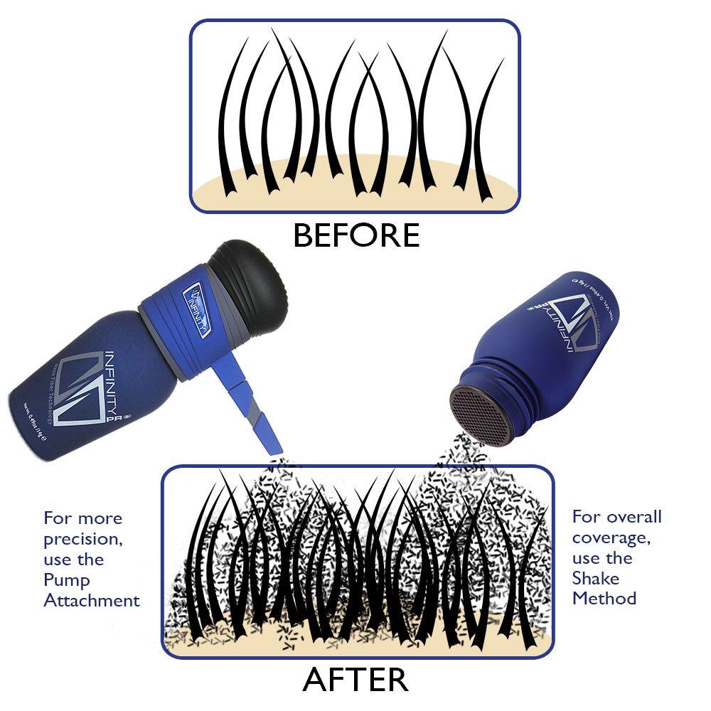 Infinity Hair Fibers, Dark Brown, 60g by Infinity (Image #4)