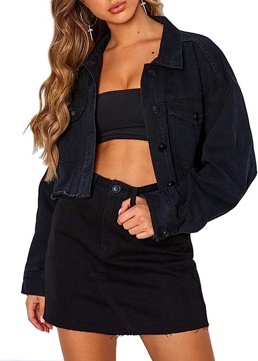 Eliacher Girls/' Denim Trucker Jacket Long Sleeve Classic Basic Jean Jacket Coats Age 2-15 Years