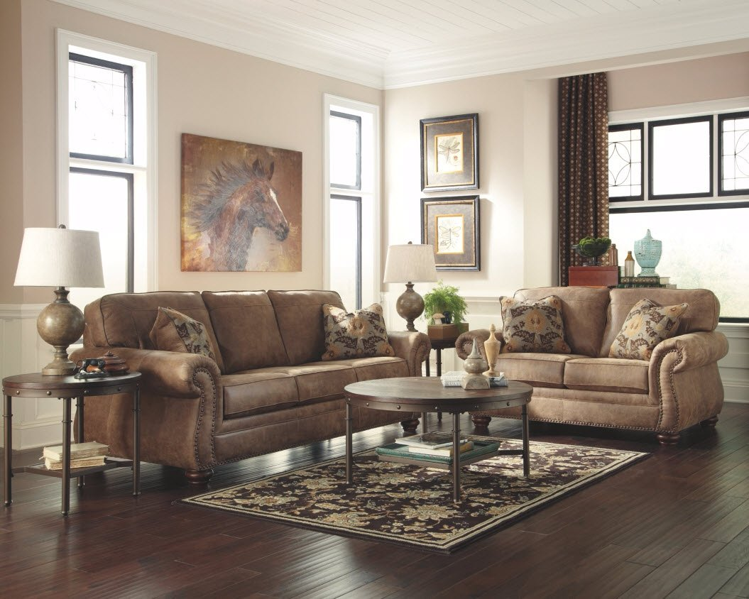 Ashley Furniture Signature Design – Larkinhurst Contemporary Loveseat – Earth