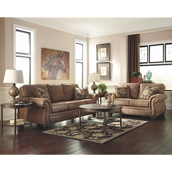Ashley Furniture Signature Design - Larkinhurst Contemporary Loveseat - Earth