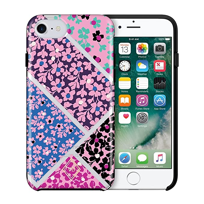 detailed pictures bb059 ce2b0 Vera Bradley Flexible Frame Case for iPhone 8 Plus, iPhone 7 Plus & iPhone  6 Plus/6S Plus - Quilt Multi/Clear