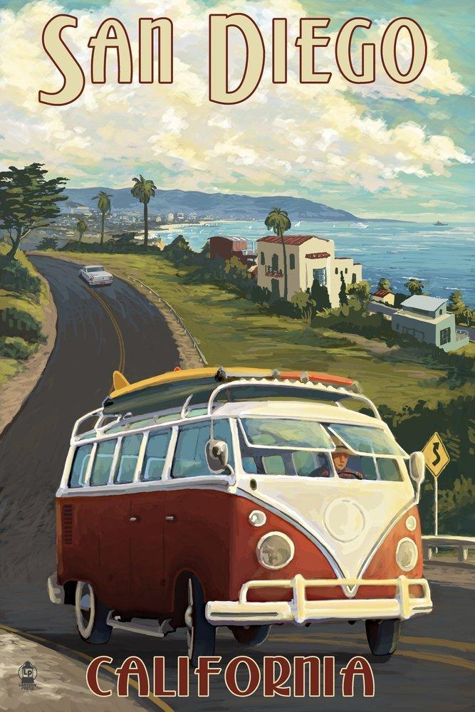 高級ブランド サンディエゴ、カリフォルニア州 – VW Art Vanクルーズ x 9 x 12 – Art Print LANT-44944-9x12 B00N5CC9AO 9 x 12 Art Print 9 x 12 Art Print, 具志頭村:c9b1e2c5 --- senas.4x4.lt