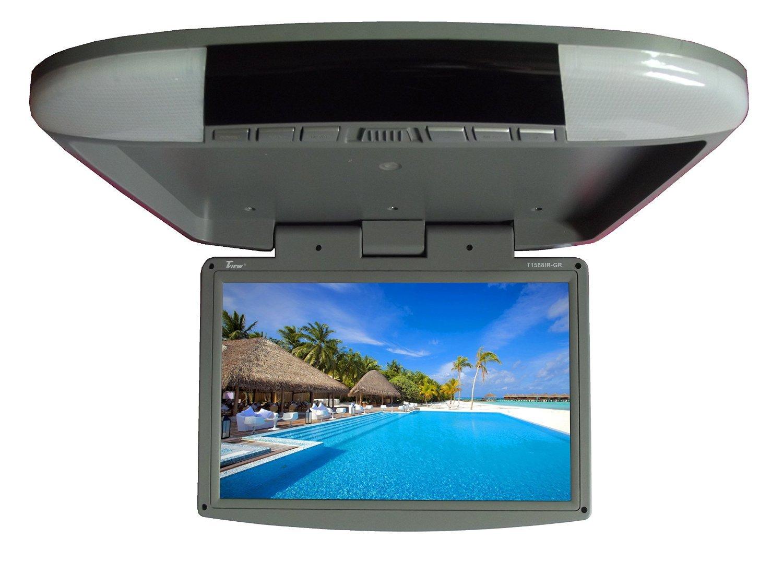 Tview T1588IR-GR Car Flip Down Monitor-Set of (Grey) [並行輸入品] B01HONQ0C2