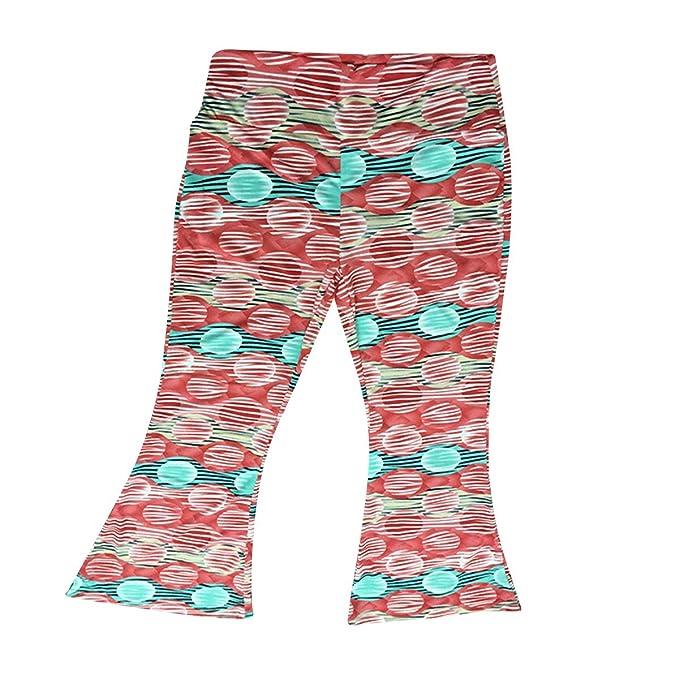 Pantalones Pitillo con Estampado Floral Flare Bell Bottom Palazzo Flaco Pantalones con Cintura Alta para Mujer