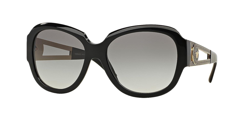 7a4b1fa073c3 Amazon.com: Versace Women's VE4304 Sunglasses Black / Gray Gradient 57mm:  Clothing