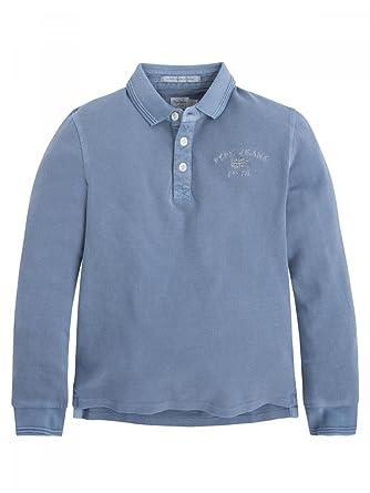 43a11a95c731 Pepe Jeans-Polo Bleu Manches Longues ado garçon  Amazon.fr ...