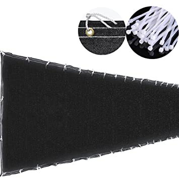 4x50u0027 4ft Tall Black Privacy Fence Screen Mesh Windscreen Fabric Slat  Fencing Shade Cover Garden