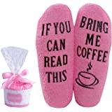 Wine Coffee Fuzzy Socks For Women Wine Gift Funny Novelty IF YOU CAN READ THIS Socks