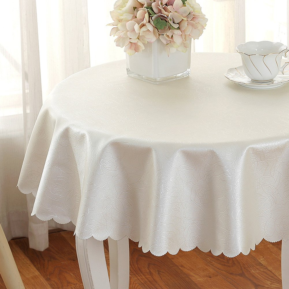 Pvc Tablecloths,Kitchen Home European style Christmas Party Simple Banquet Picnic [round] Washable Anti-wrinkle Oil-proof Disposable Burn-proof-B diameter320cm(126inch)