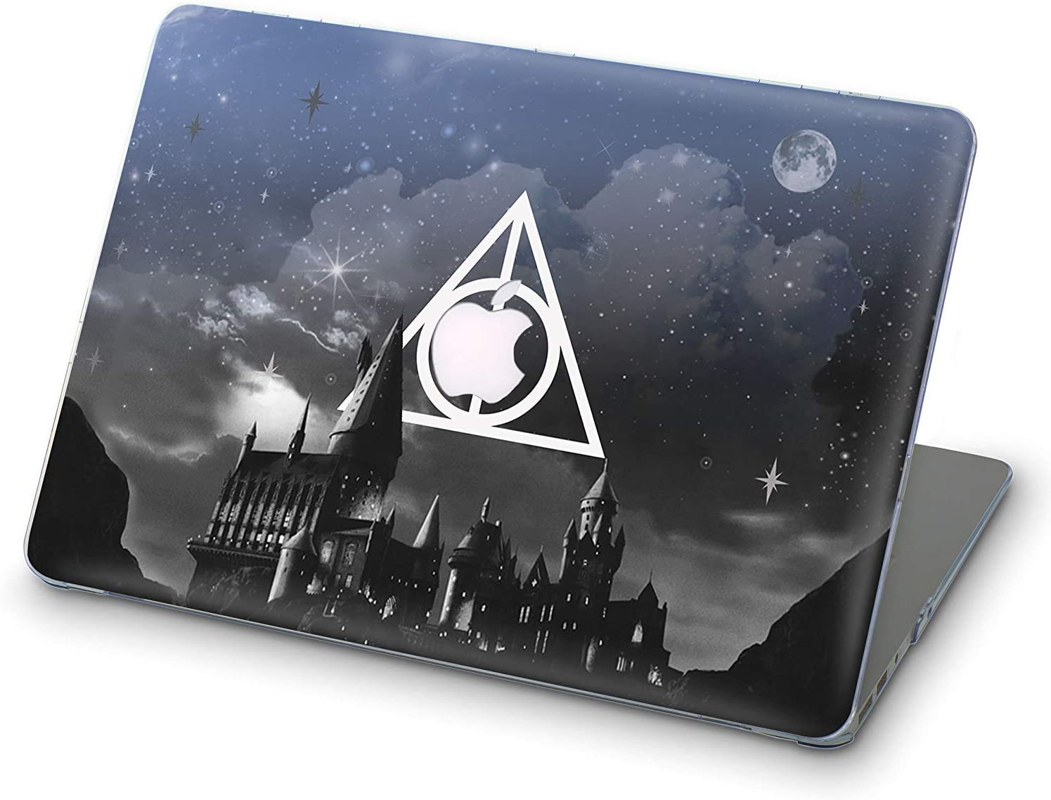 696designers 3D Varnished Hogwarts Night Full Cover Hard Shell Case for Apple MacBook Air 13.3 Inch 2018 (Harry Potter) A1932