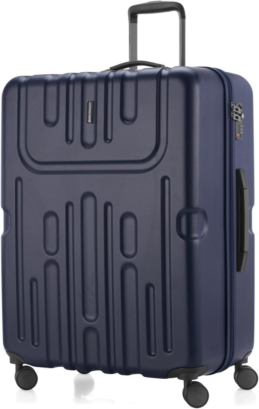 HAUPTSTADTKOFFER TSA Trolley ABS Valigia da viaggio rigida e legera Blu scuro Havel grande 73 cm 111 litri