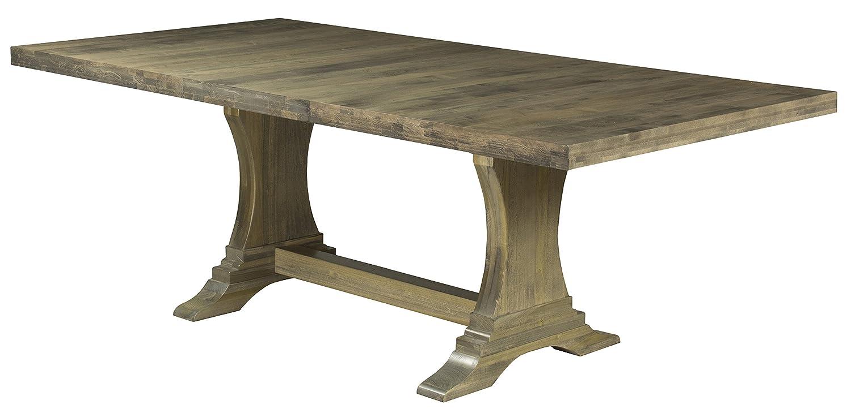 Saloom furniture 42 x 72 rectangular maple extendable dining table wood distressed walnut finish 72 112 double extension leaf amazon co uk kitchen