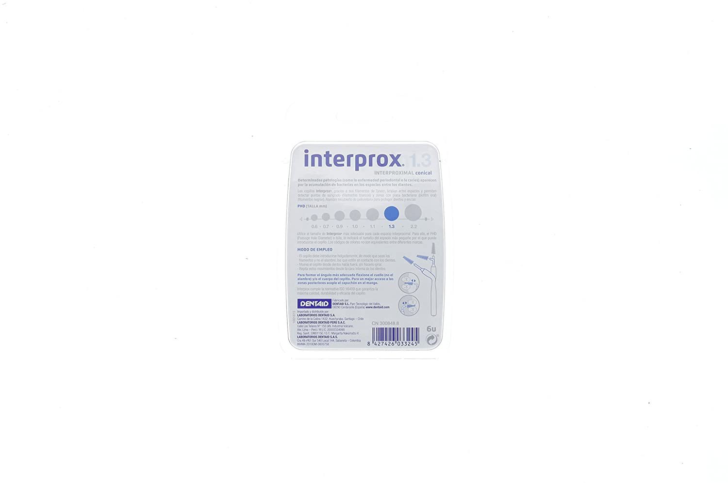 Amazon.com: Dentaid Toothbrush Interprox Interproximal Conico 6 U by Dentaid: Health & Personal Care